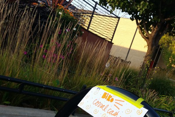 """Snag """"Corral Cash"""" at bike corrals on Ingersoll Ave in October!"""